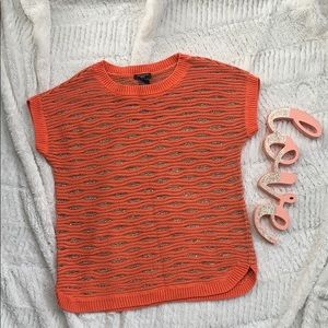 Ann Taylor Petite Coral Sweater